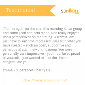 SJPoole Network Marketing Emma feedback